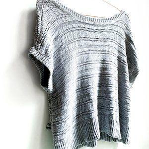 LOFT oversized off the shoulder cropped knit top